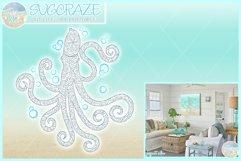 Octopus Mandala Zentangle Svg Dxf Eps Png Pdf Files Product Image 1