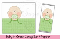 Baby in Green Candy Bar Wrapper, Light Skin Product Image 1