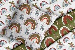 Christmas Rainbow Seamless Patterns Product Image 5