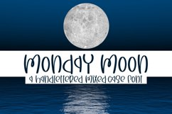 Monday Moon - A Handlettered Mixed-Case Font Product Image 1