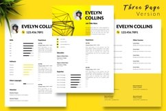Modern Resume CV Template for Word & Pages Evelyn Collins Product Image 4