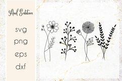 Wildflowers SVG , Flowers Cut files, Raising wildflowers SVG Product Image 1