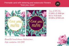 """Premade card """"love you, mom"""" for mothers day. JPG Product Image 4"""