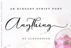 Anything Script || 8 Fonts Product Image 1