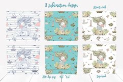 Skinny tumbler Png. Cute mermaid clipart sublimation Png Svg Product Image 2