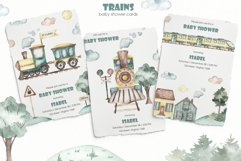 Trains watercolor collection Product Image 6