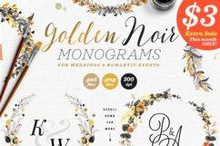 6 Golden Noir Wedding Monograms IX Product Image 2