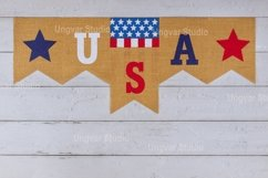 Decorated letter USA sign with patriotism federal holiday Product Image 1