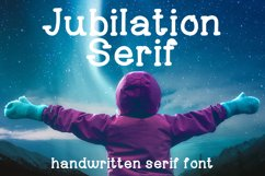 Jubilation Serif Handwritten Font Product Image 1