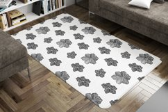 Black&White floral seamless pattern collection, 4 patterns Product Image 5
