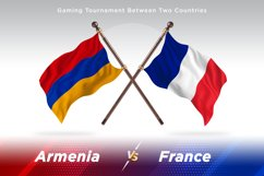 Armenia vs France Two Flags Product Image 1