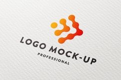 Clean paper logo mock-up Product Image 1