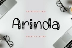 Web Font Arinda Font Product Image 1
