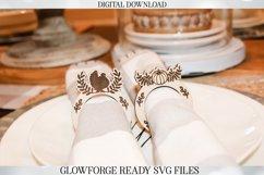 Glowforge Napkin Ring Set - Thanksgiving - Laser Machine Product Image 1