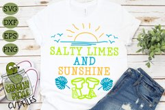 Salty Limes and Sunshine Summer Beach SVG Product Image 1