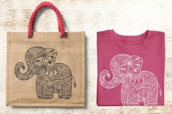 Baby Elephant SVG - Floral Mandala Elephant SVG Product Image 3