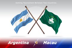 Argentina vs Macau Two Flags Product Image 1