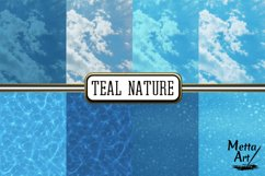Teal Nature - 16 Digital Papers/Backgrounds Product Image 2
