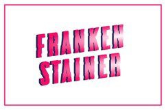 Frankenstainer - A Raw Display Typeface Product Image 2