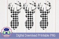 Deer Design Buffalo Plaid Christmas Sublimation Printable Product Image 1