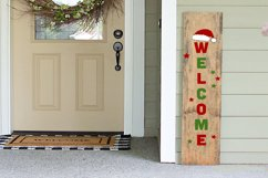 Christmas Porch Sign Svg, Welcome Sign Svg, Porch Sign Svg Product Image 1
