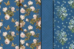 Shabby chic roses seamless patterns Product Image 5