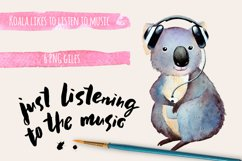 Watercolor koala clipart Product Image 1