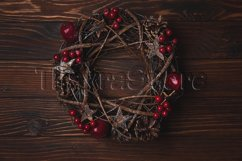 Christmas wreath with red apples and berries Product Image 1