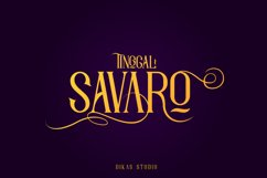 Savaro Typeface Product Image 1