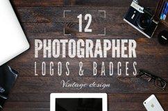Vintage Photography SVG Bundle Photographer Logos Silhouette Product Image 2