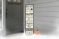Halloween Vertical Sign Mockup Set, Tall Porch Sign Mock-up Product Image 5