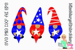 Patriotic Gnomes SVG Cutting File PNG DXF AI EPS Product Image 1