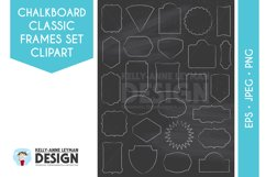 Chalkboard Digital Frame Clipart, Digital Label clipart set Product Image 1