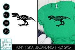 Skateasaurus - Dinosaur on Skateboard for Skateboarding Fans Product Image 1