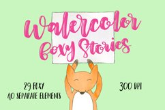 Watercolor foxy stories Product Image 1