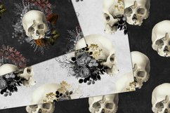 Vintage Skulls Digital Paper Product Image 3