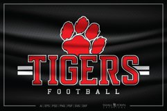 Tiger SVG, Football SVG, Tiger Football, Football, Team Product Image 1