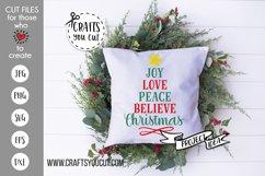 Joy Love Peace Believe Christmas 2 Cut File Product Image 1