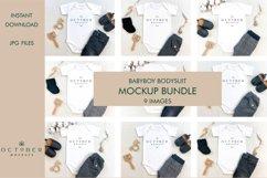 Mockup Bundle Baby Boy Bodysuit White in JPG Product Image 1