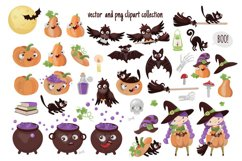 CRAZY HALLOWEEN Hand Drawn Flat Style Vector Set Product Image 4
