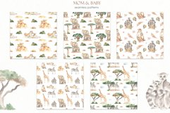 Mom and baby animals Watercolor Product Image 9