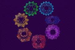 Watercolor chakras clipart 7 chakras set Yoga Meditation Product Image 3