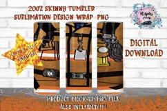 20oz  Beige Fireman   Sublimation Tumbler Wrap  Seamless Product Image 1