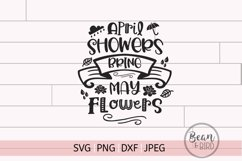 April Showers Spring Cut File Product Image 1