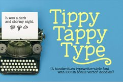 Tippy Tappy Type - a hand-made typewriter-ish font! Product Image 8