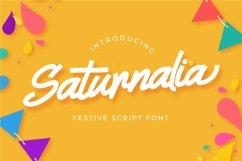 Saturnalia - Festive Script Font Product Image 1