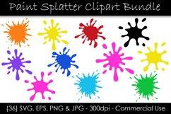 Paint Splatter SVG Bundle - Paint Splash Clip Art Product Image 1