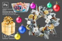 Christmas overlay & Glitter overlays, Photoshop overlay Product Image 6