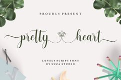 pretty heart - lovely script font Product Image 1