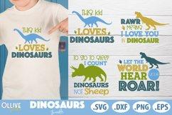 Dinosaurs Bundle, Dinosaur SVG DXF EPS PNG Product Image 1